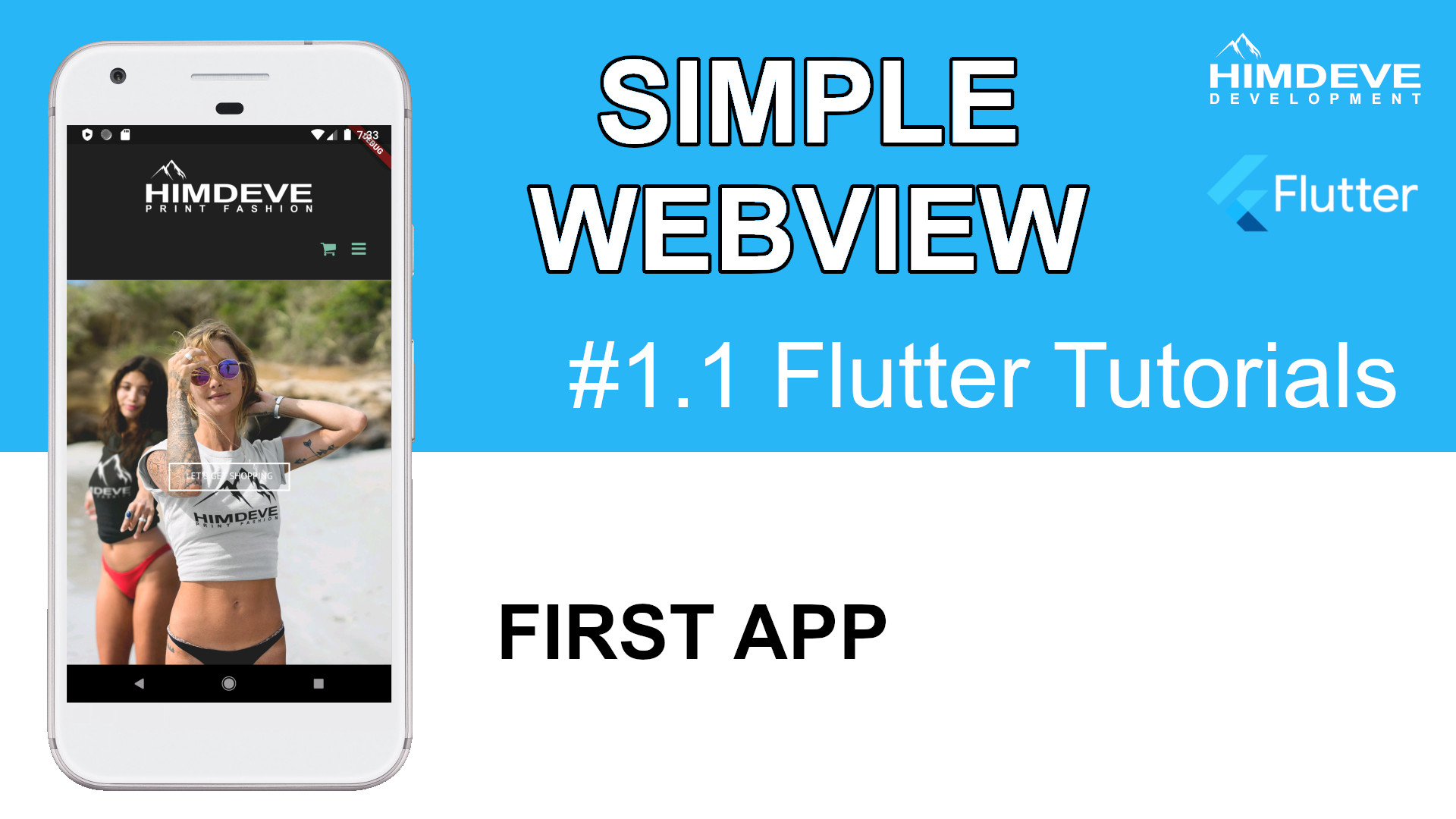 #1_1 Simple Webview Flutter Tutorials