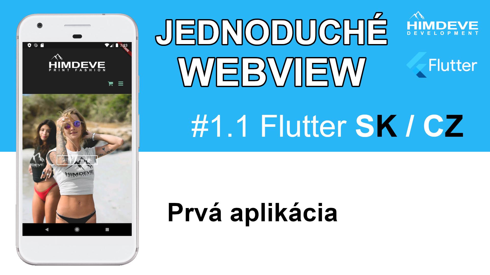 #1_1 Jedonduche Webview Flutter SK / CZ tutorialy