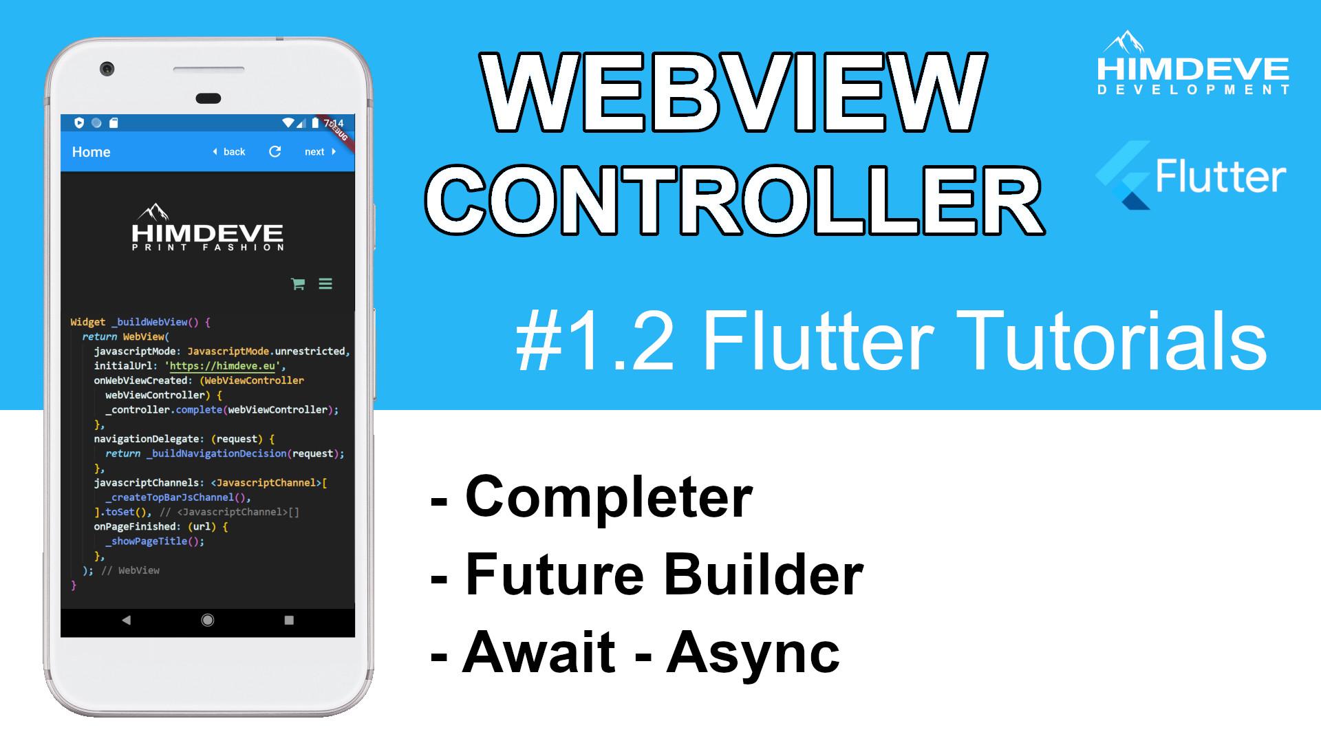 #1_2 Webview Controller Flutter Tutorials