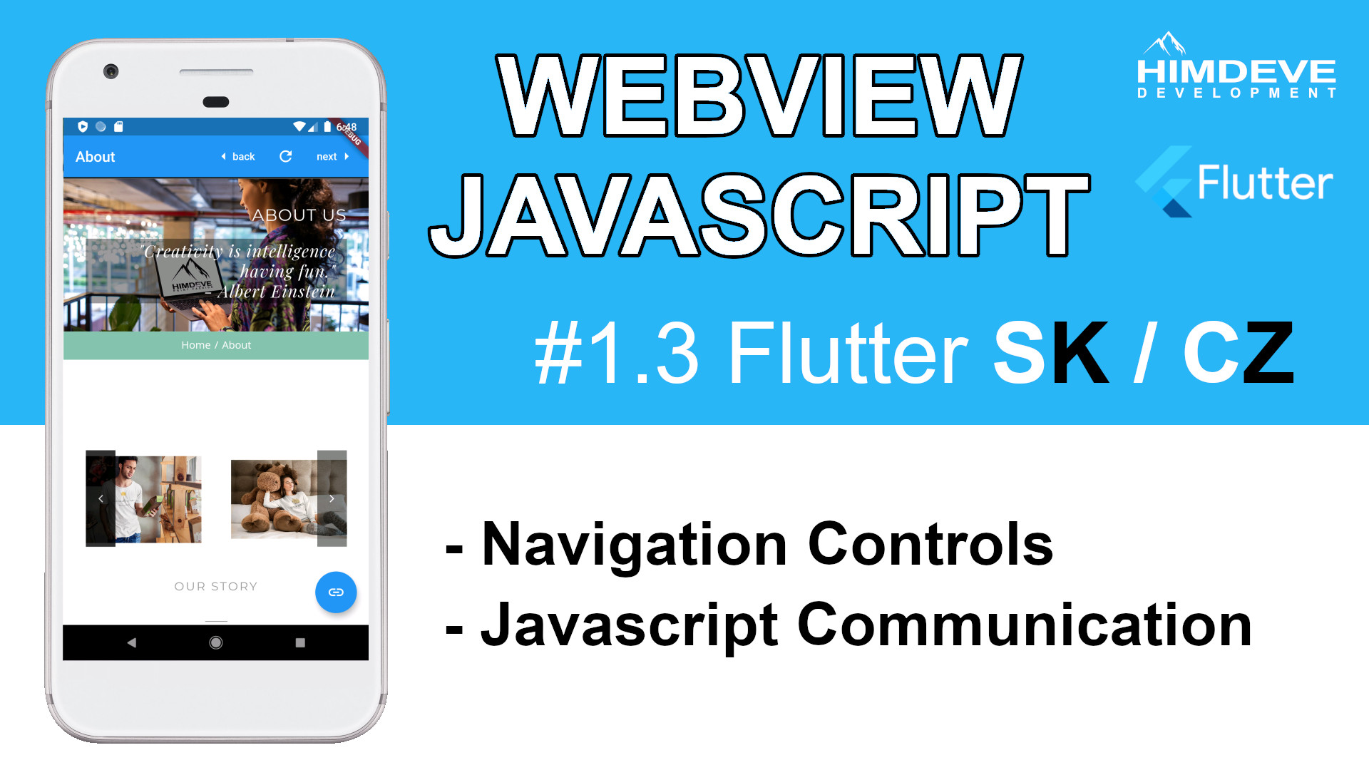 #1_3 Webview Javascript Flutter SK / CZ tutorialy