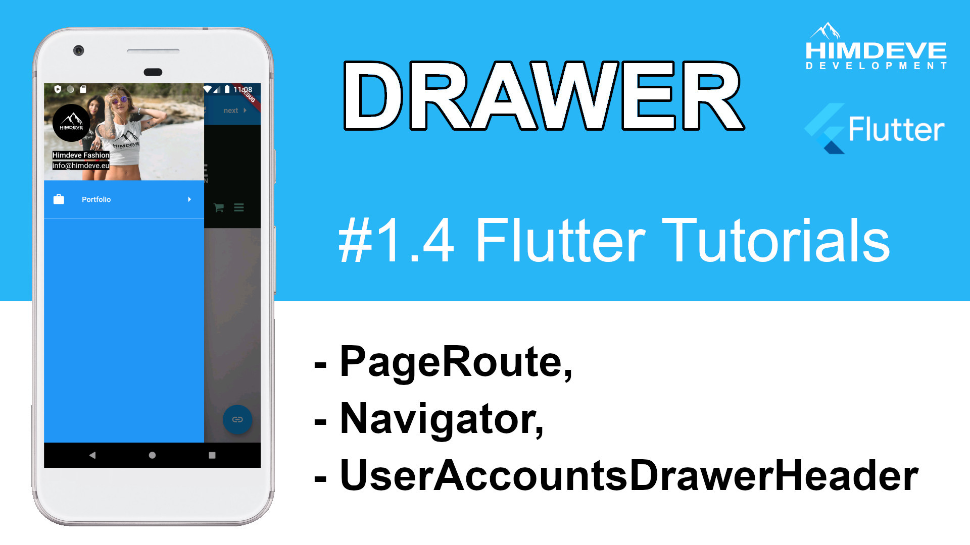 #1_4 Drawer Flutter Tutorials
