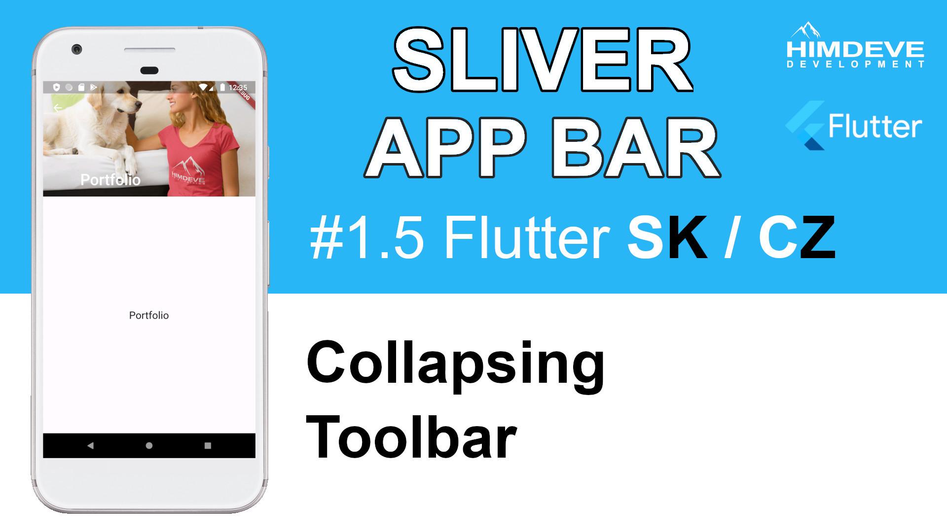 #1_5 Sliver App Bar Flutter SK / CZ tutorialy