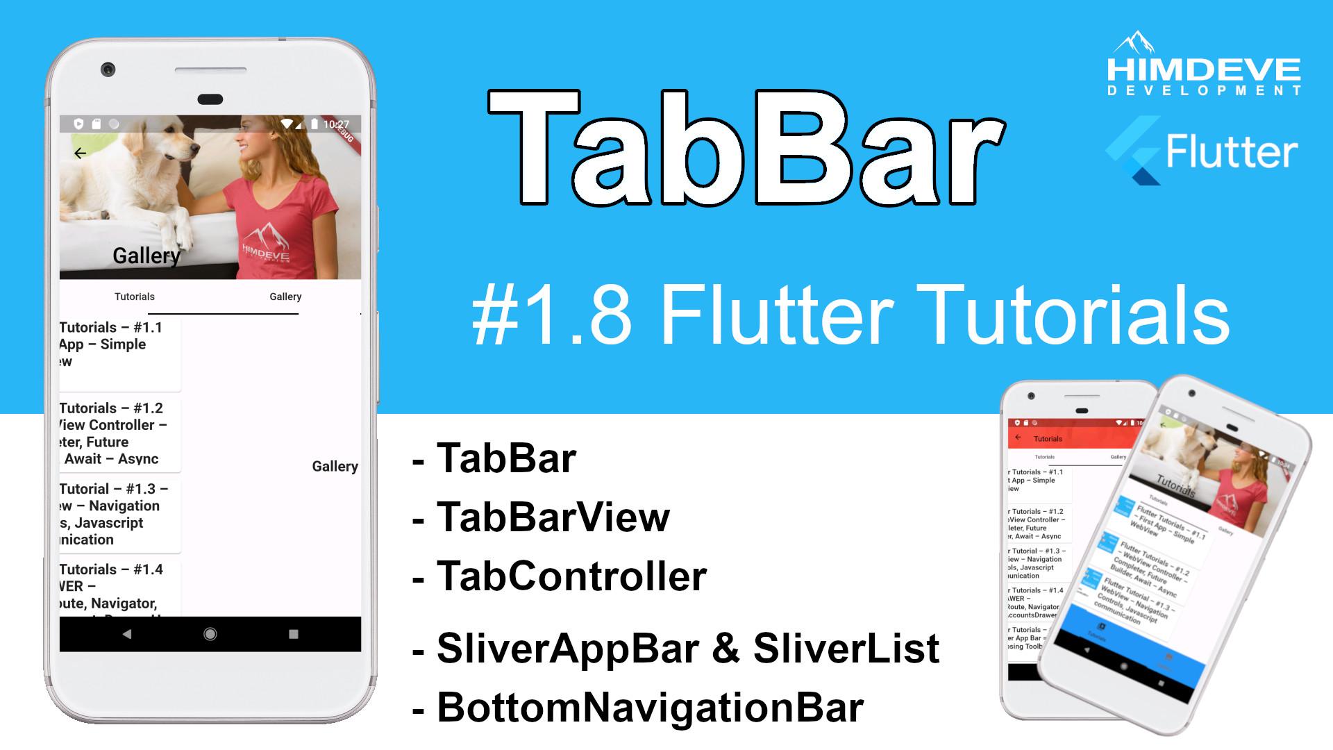 #1_8 TabBar Flutter Tutorial