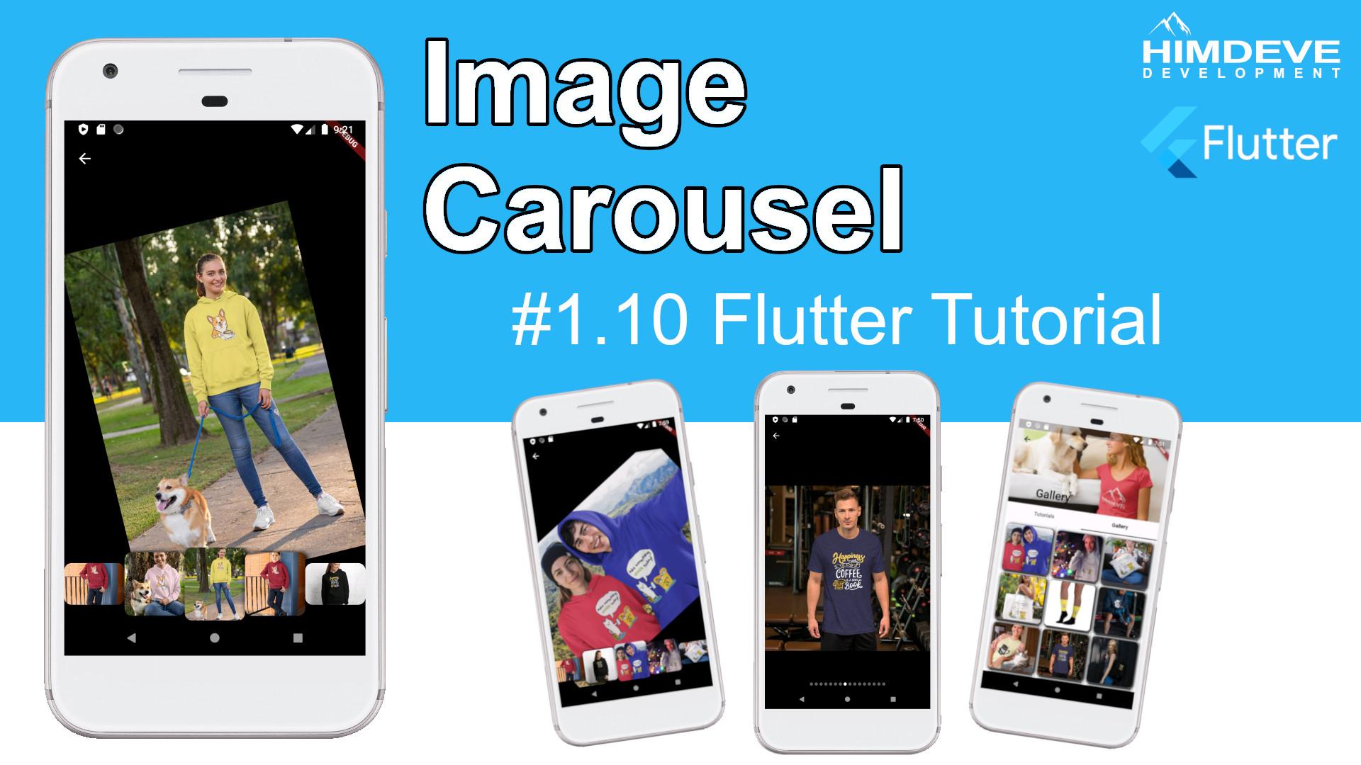 #1_10 Image Carousel Flutter Tutorial