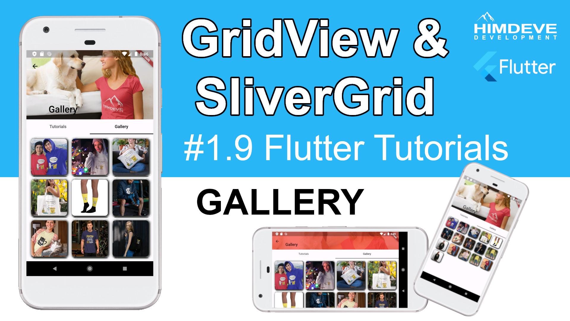 #1_9 GridView & SliverGrid Flutter Tutorials